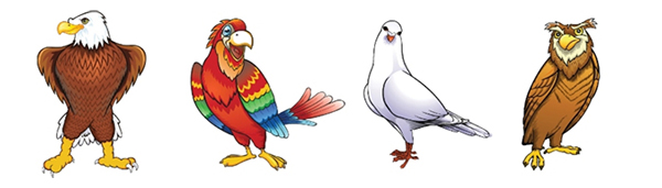 DISC personality birds - Eagle, Parrot, Dove, Owl